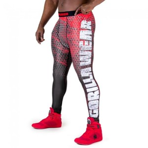 Gorilla Wear Legginsy męskie Bruce Tights Black/Red
