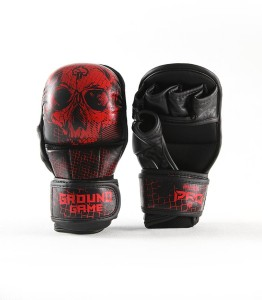 Ground Game Rękawice MMA PRO Red Skull