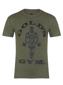 Golds Gym T-Shirt Muscle Joe Army