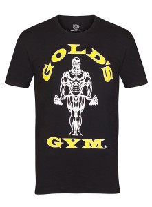 Golds Gym T-Shirt Muscle Joe Charcoal