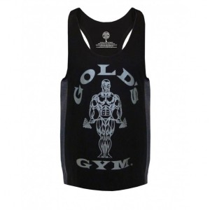 Golds Gym Stringer Joe Tonal Black