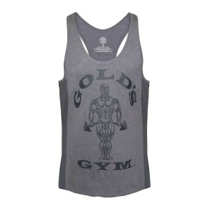 Golds Gym Stringer Joe Tonal Grey