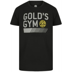 Golds Gym T-Shirt Crew Neck Black
