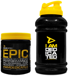 Dedicated Epic 488g blood orange+Waterjug free