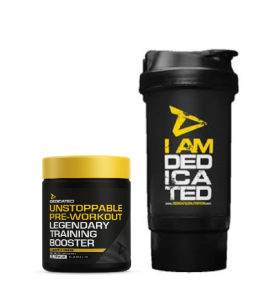 Dedicated.Unstoppable 225g pineapple+shaker free