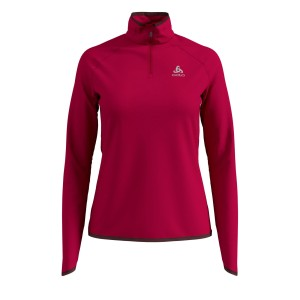 Odlo Bluza Tech. Damska Midlayer 1/2 zip Carve red