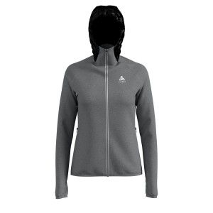 Odlo Bluza Tech.Damska Midlayer Full zip Katja grey