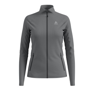 Odlo Bluza Tech.Damska Midlayer Full zip Proita grey