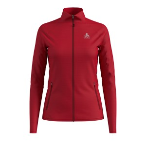 Odlo Bluza Tech.Damska Midlayer Full zip Proita red