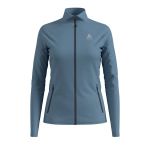 Odlo Bluza Tech.Damska Midlayer Full zip Proita blue