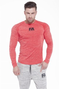 FA Sports Wear Long Sleeve 01 Compresion Red