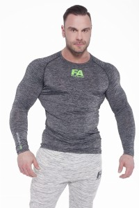 FA Sports Wear Long Sleeve 026 Compresion Grey