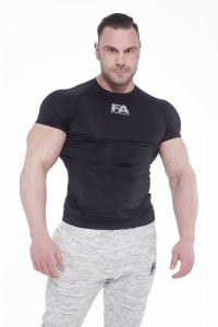 FA Sports Wear T-Shirt Męski 02 Compresion Dark Black