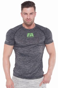 FA Sports Wear T-Shirt Męski 022 Compresion Grey