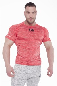 FA Sports Wear T-Shirt Męski 025 Compresion Red
