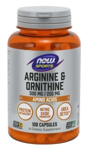 Now Arginine/Ornithine 100cap