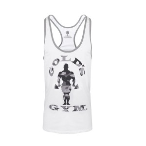 Golds Gym Stringer Camo Joe White