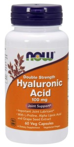 Now Hyaluronic Acid 100mcg Plus 60veg caps