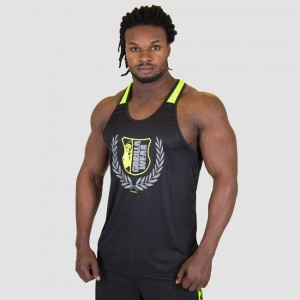 Gorilla Wear Lexington Tank Top Blac Neon Lime