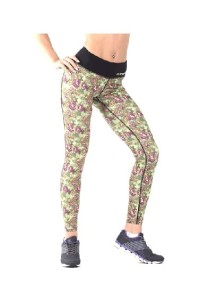 FA Sports Wear Legginsy Damskie 009 W Roses Green