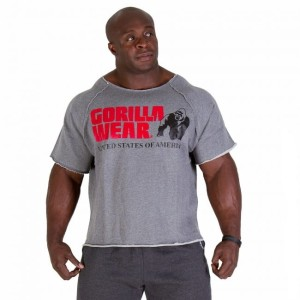Gorilla Wear Classic Work Out Top Grey Melange