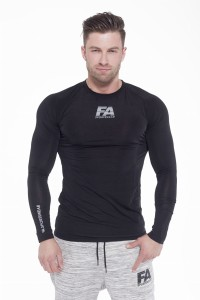 FA Sports Wear Long Sleeve 01 Compression Dark Black