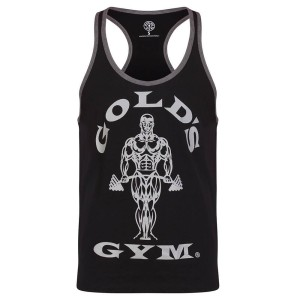 Golds Gym Stringer Joe Contrast Black/Grey