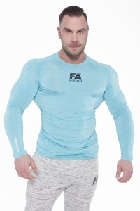 FA Sports Wear Long Sleeve 01 Compression Light Blue