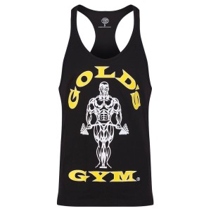 Golds Gym Stringer Joe Premium Black