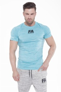 FA Sports Wear T-Shirt Męski 02 Compresion Light Blue