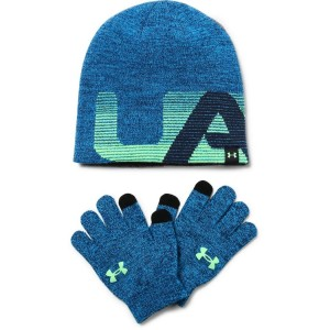 Under Armour Boy's Beanie/Glove Combo blue