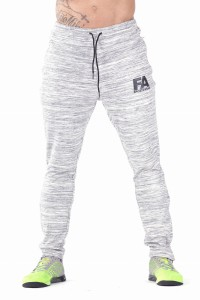 FA Sports Wear Spodnie Dresowe Męskie 01 Basic Melange Light Grey