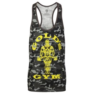 Golds Gym Stringer Joe Camo Black