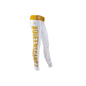 Olimp Women's Leggins Fancy white & gold