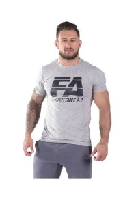 FA Sports Wear T-Shirt Męski 001 Basic Light Grey
