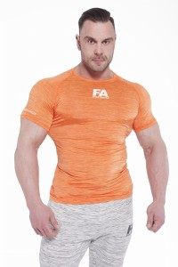 FA Sports Wear T-Shirt Męski 02 Compresion Orange