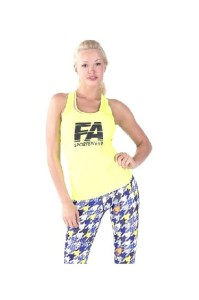 FA Sports Wear Tank Top Damski 003 W Basic Neon Yellow