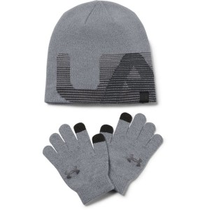 Under Armour Boy's Beanie/Glove Combo grey