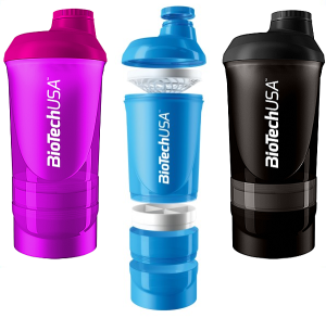 BioTech USA Shaker Wave 600ml+200ml+150ml